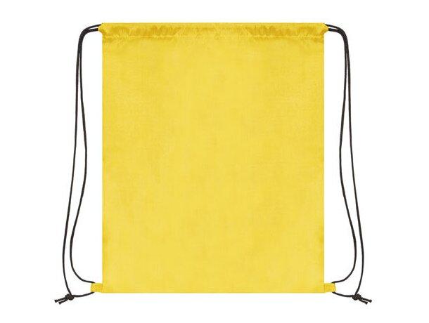 Bolsa mochila con cordones económica grabada amarilla