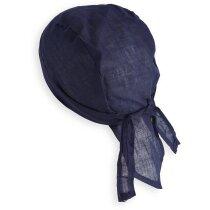 Bandana de algodón de colores azul
