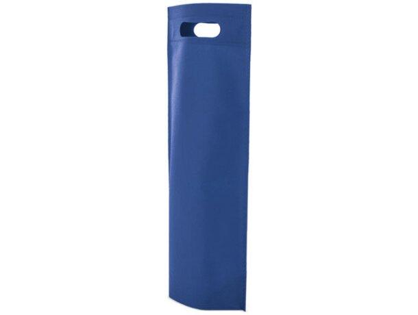 Bolsa de non woven para botella azul royal