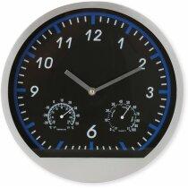 Reloj de sobremesa con estación meteorológica personalizado azul