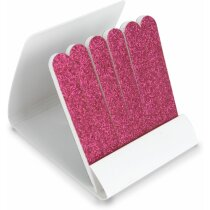 Estuche de limas de uñas personalizado personalizado fucsia