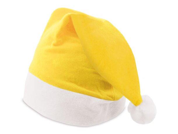Gorro de navidad amarilla