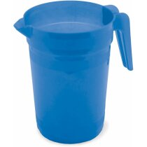 Jarra de plástico de 1 litro de capacidad azul