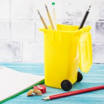 Lapicero contenedor amarillo personalizado amarillo