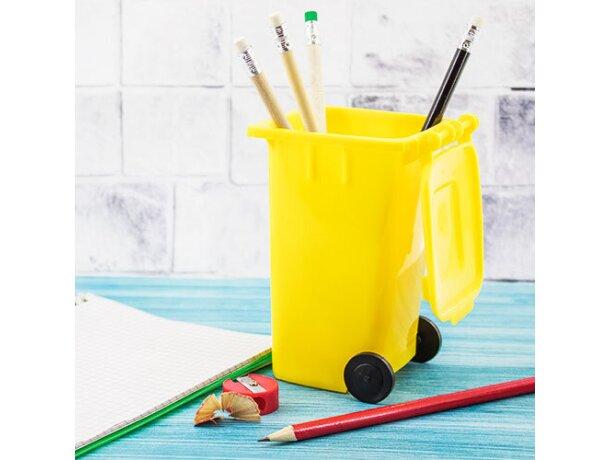 Lapicero contenedor amarillo verde