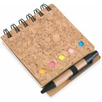 Libreta con marcadores y tapas de corcho personalizada