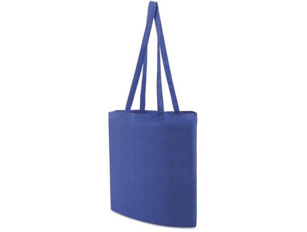 Bolsa de tela promocional para publicidad de empresas azul royal