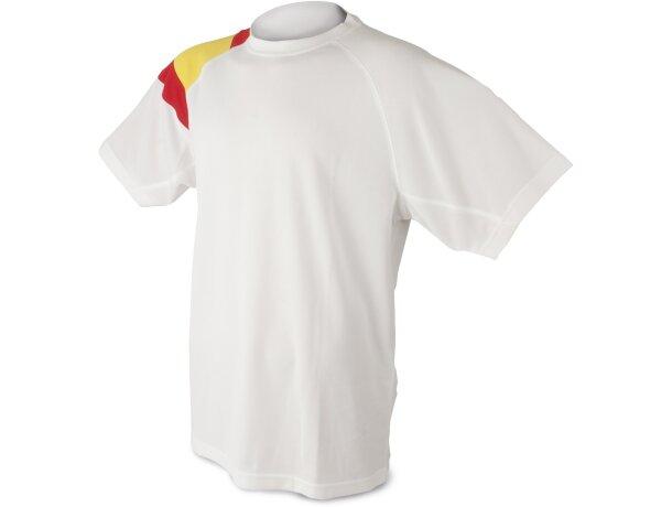 Camisetas manga corta bandera blanca con logo