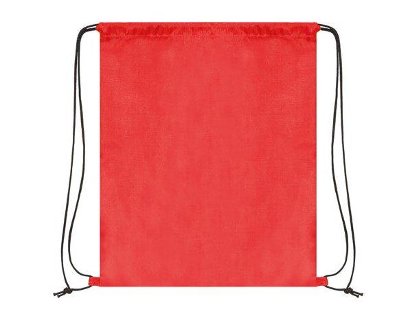 Bolsa mochila con cordones económica rojo
