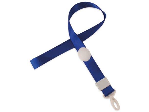 Lanyard con cierre ajustable original azul