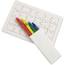 Puzzle con ceras para colorear personalizada