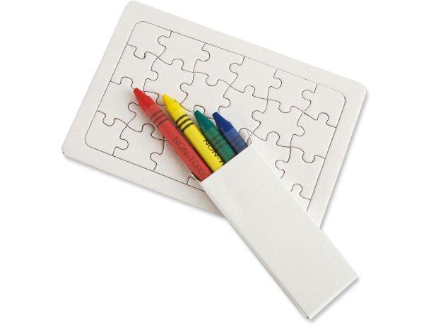 Puzzle con ceras para colorear barata