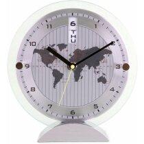 Reloj de sobremesa mapamundi personalizado