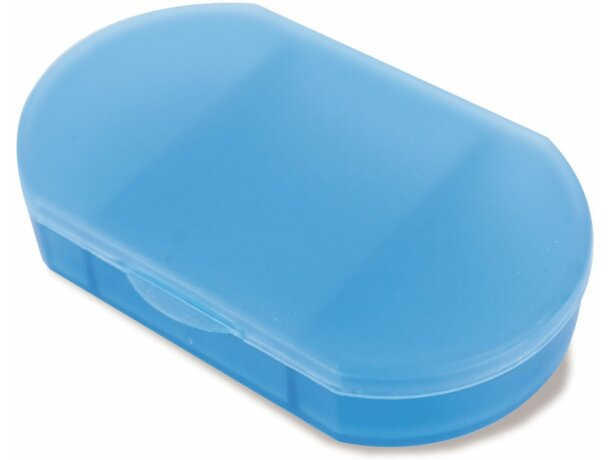 Pastillero de bolsillo en colores personalizado azul