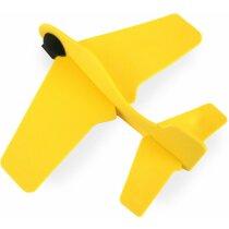 Avión manualidades de caucho barato amarillo