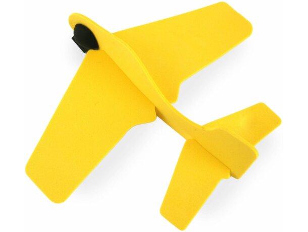Avión manualidades de caucho personalizado amarillo