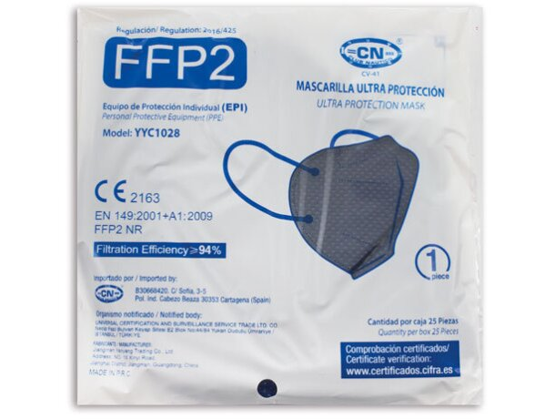 Mascarilla ultra proteccion de colroes ffp2 gris