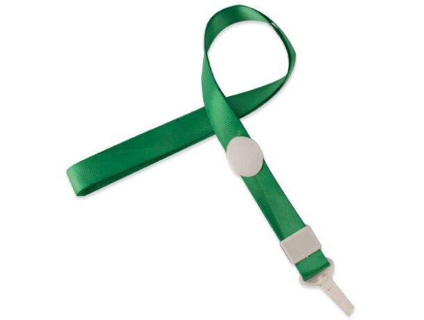 Lanyard con cierre ajustable verde