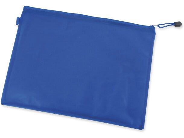 Bolsa grande de pvc con cremallera azul