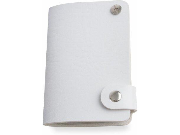 Tarjetero de PVC de colores vivos blanco con logo