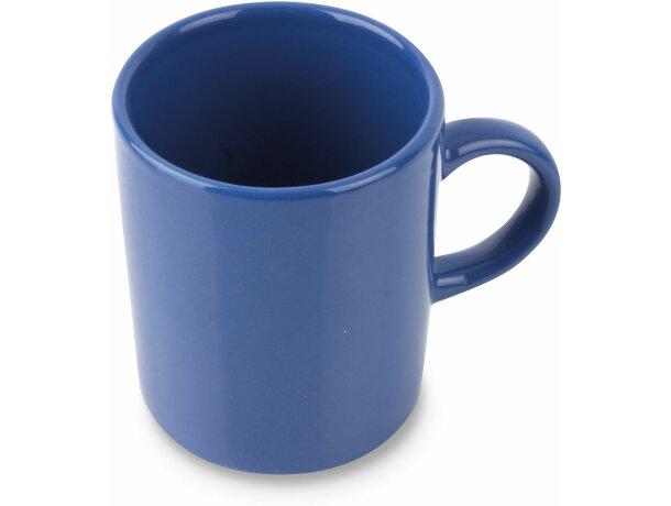 Taza de café de cerámica con 100 ml azul