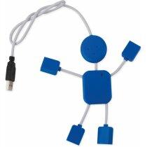 Dispositivo usb con forma de muñeco personalizado azul