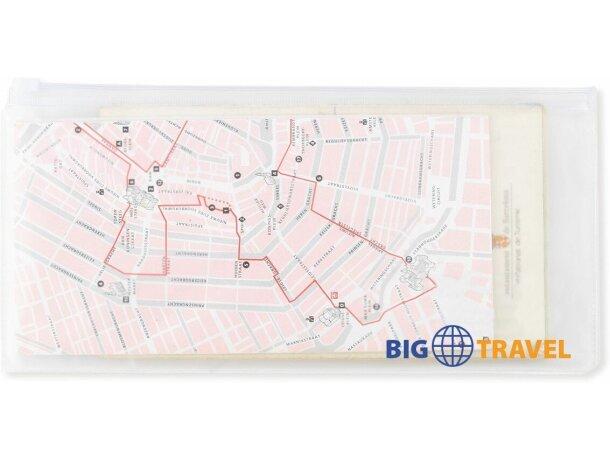 Bolsa de viaje transparente para documentos personalizada