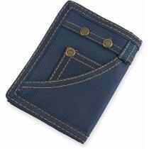 Cartera acabado estilo jeans azul
