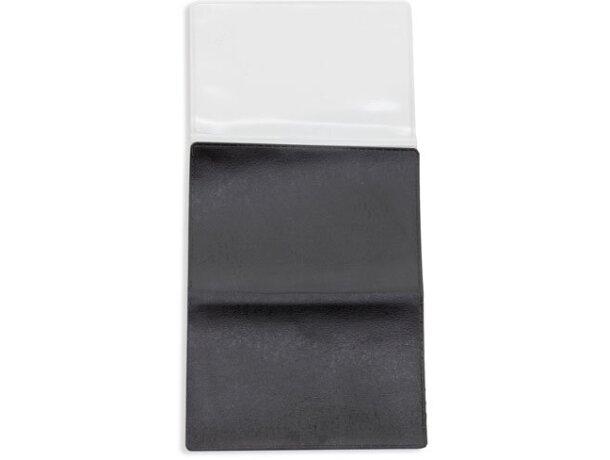 Porta tarjetas triple negro