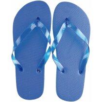 Sandalias de hombre de talla única personalizada azul
