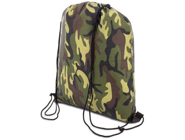 Bolsa mochila con cordones económica camuflaje