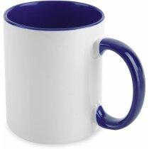Taza para sublimación interior de color personalizada azul