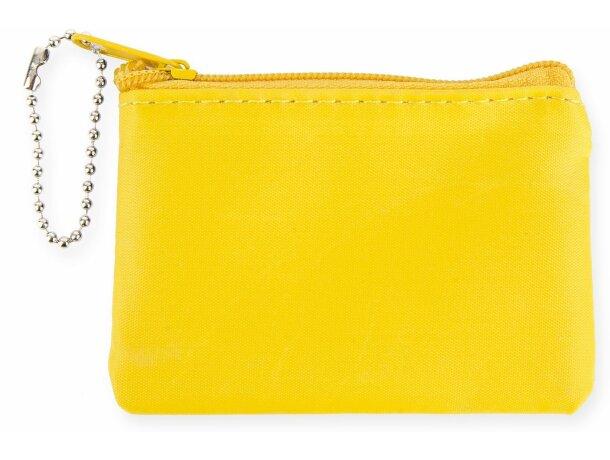 Monedero con cadena amarillo personalizada