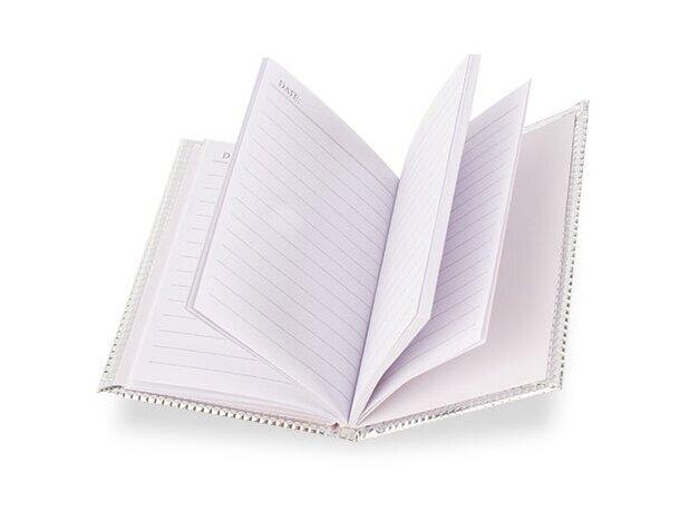 Libreta de 70 hojas con tapas en oro o plata plata