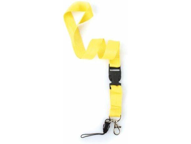 Lanyard Doble de poliéster amarillo grabado