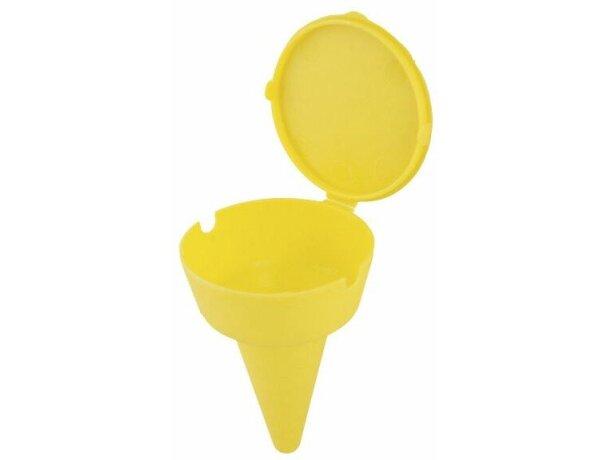 Colillero para la playa personalizado amarillo
