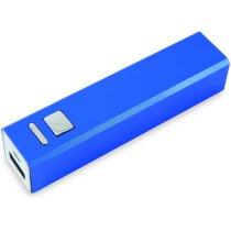 Powerbank de aluminio en varios colores personalizado azul