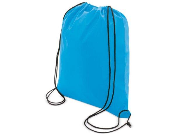 Bolsa mochila con cordones económica barata azul