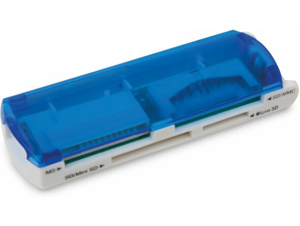 Lector de tarjetas multifunción personalizado azul