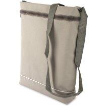 Bolsa de nylon con asa larga personalizada gris