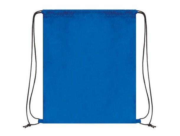Bolsa mochila con cordones económica azul royal