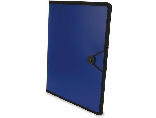 Carpeta de polipropileno con cierre de goma azul
