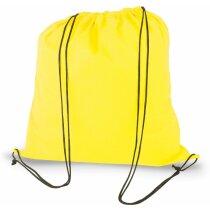 Bolsa saco de nonwoven amarilla personalizado