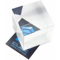 Pisa papeles de cristal cubo personalizado