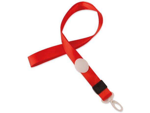 Lanyard con cierre ajustable rojo