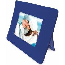 Alfombrilla con portafotos y calendario personalizada azul
