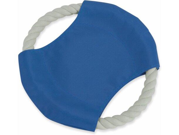 Frisbee para mascotas de cuerda personalizado azul