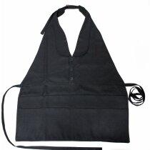 delantal elegante con chaleco personalizado negro