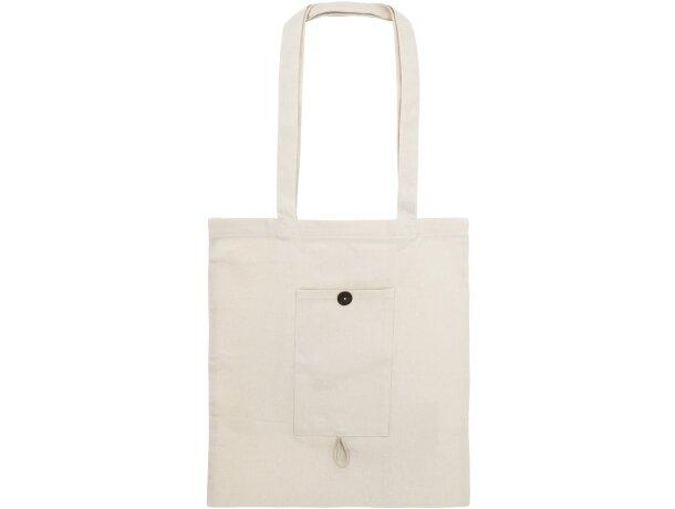 Bolsa de algodon plegable conbolsillo piedra