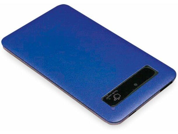 Powerbank Plana con 4000 mah personalizado azul